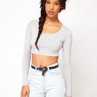 ASOS 90&#x27;s Crop with Long Sleeve at asos.com