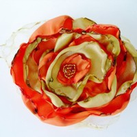 Gold and Orange Flower Accessory  | Our Place To Nest