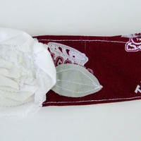 Texas A&amp;M Fabric Flower headband, head wrap, Collegiate