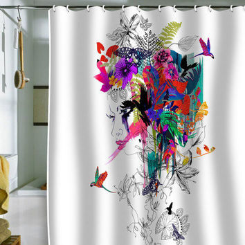 DENY Designs Home Accessories | Holly Sharpe Tropical Girl 1 Shower Curtain