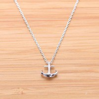 TINY ANCHOR necklace in silver  by bythecoco on Zibbet