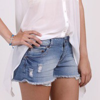 Wild & Free Cut-Off Denim Shorts by Celebrity Pink @ FrockCandy.com