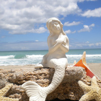 Sitting Mermaid - Painted Finish