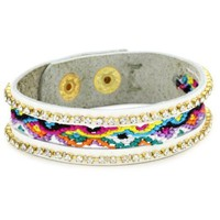 Presh Single Multi Color Friendship Leather Bracelet - designer shoes, handbags, jewelry, watches, and fashion accessories | endless.com