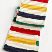 Multi Coloured Knit Wool Scarf