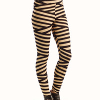 striped-high-waisted-leggings BLACKTAUPE - GoJane.com