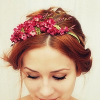Francesca - a romantic floral crown