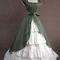 Colonial Cosplay Lolita Dress Ball Gown Prom 020 L