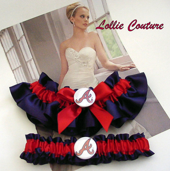 Atlanta Braves Garters - 2pc Set