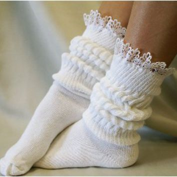 SW1 Cuddly bunny super slouch sock white