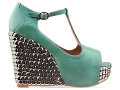 Jeffrey Campbell Fox Tick in Bright Green at Solestruck.com