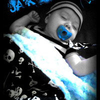 CUSTOM punk rock baby or toddler blanket 30x36 by RockerByeBaby