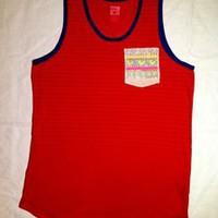 Tuanis — Summer Collection Tank Top - Red w/ yellow birds