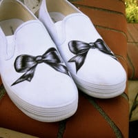 Hand Drawn Sharpie Bow Shoes