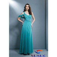 Buy Cheap Sheath / Column One Shoulder  Floor-length Chiffon Wedding Dress From China