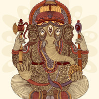 Ganesha: Lord of Success Art Print by Valentina Ramos | Society6