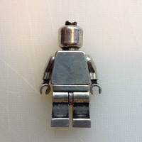 Pewter Metal Lego Minifig, mini figure