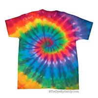 Child Size Classic Rainbow Spiral Tie Dye Shirt