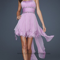 La Femme Short Strapless Prom Dress 15087