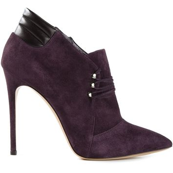 Casadei Laced Up Front Low Ankle Boots - Russo Capri - Farfetch.com