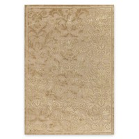 "Transitional Turkish Pave Vintage Damask Golden Pearl Rug - 5'3"" x 7'6"" - Style Study"