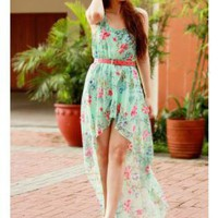Bqueen Floral Chiffon Dress BY108L