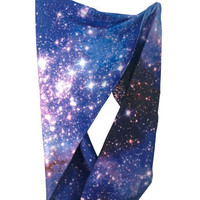 Small Magellanic Cloud Circle Scarf | Shadowplaynyc | Space inspired clothing in nebula and galaxy prints
