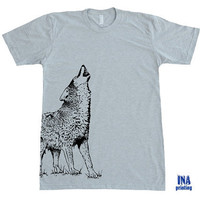 WOLF American Apparel - Mens T-shirt S M L XL (9 Colors Options)
