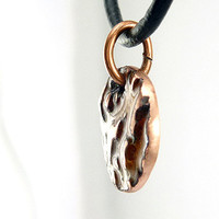 Textural Tree Bark Charm Necklace