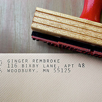Custom Return Address Stamp // ARCHIVE // typeset