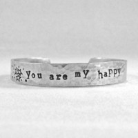 you are my happy bracelet. meaningful cute quirky quote bracelet AT EASE DESIGNS 2