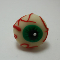 Glow In The Dark Eye Ball Ring Adjustable Lead and Nickel free