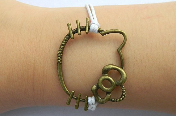 Retro hello kity adjustable bracelet