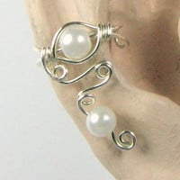 Sterling Silver Ear Cuff Lobe Enhancer Pearl or Choose from 56
