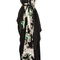 Vionnet Printed stretch-silk satin gown - 68% Off Now at THE OUTNET