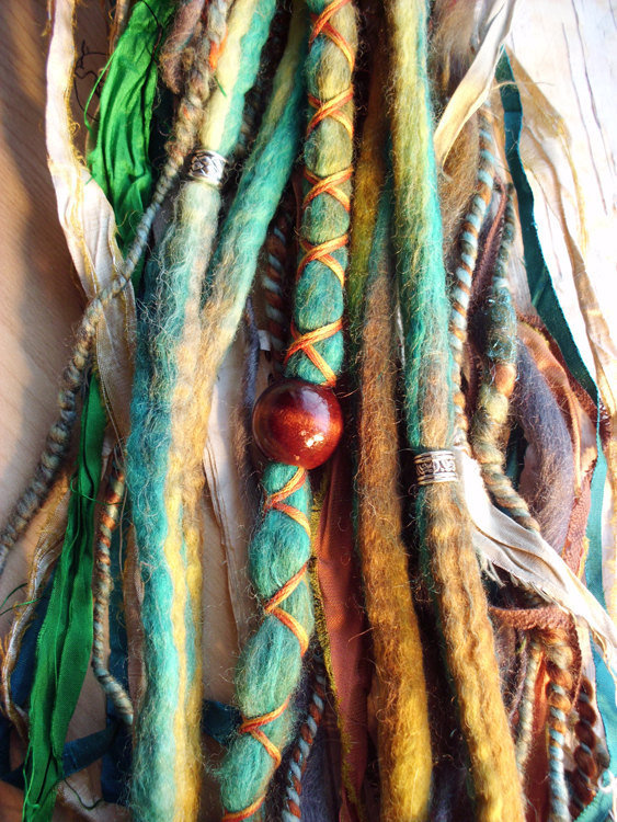 Tie Dye Multi Color Wool Dreads With From Purplefinchstore On