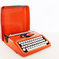 Vintage manual orange Olivetti Typewriter