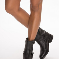 Iza Leather Zipper Boot - Pieces - Black - Everyday Shoes - Shoes - Women - Nelly.com