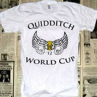 White Quidditch World Cup '12 Crewneck T-Shirt (Sizes: XS / S / M / L)