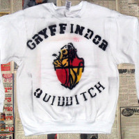 NEW White Gryffindor Quidditch Crewneck Sweater (Sizes: L)
