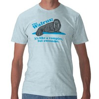 The Walrus Vampire Tshirt from Zazzle.com