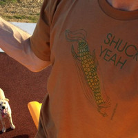 Shuck Yeah - Corn - Fine Jersey Cotton T-shirt - FREE SHIPPING