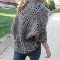 Shrug Cardigan Shawl W/Sleeves Easy.. on Luulla
