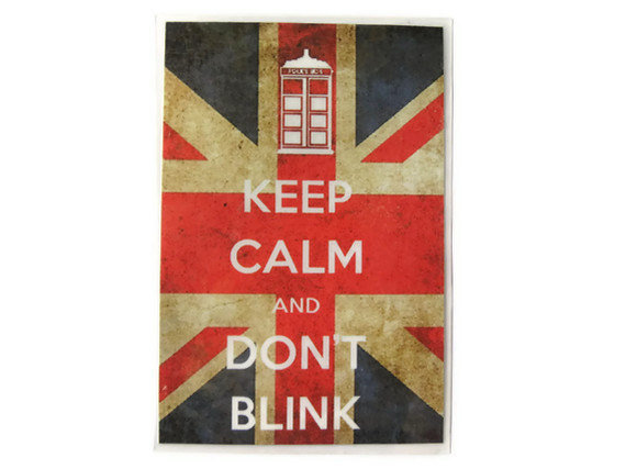 Doctor Who Magnet, Keep Calm and Don't Blink Fridge Magnet