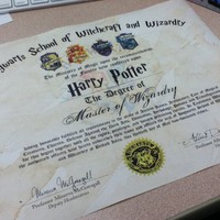 Hogwarts Diploma Customizable Harry Potter by TheSupplyCompany