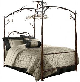 Enchanted Forest Canopy Bed - Stone County Ironworks