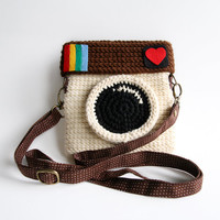Crocheted Instagram Purse (Original Color)
