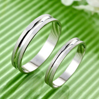 Gullei Trustmart : Japanese pair rings Frosted sterling silver [GTMCR0030] - $23.00 - Couple Gifts, Cool USB Drives, Stylish iPad/iPod/iPhone Cases & Home Decor Ideas