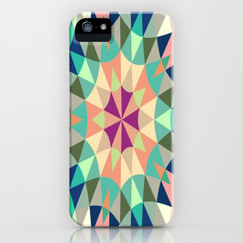 Cool Pink Retro Geometry iPhone & iPod Case by 2sweet4words Designs