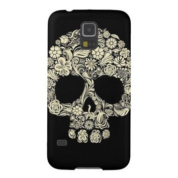 Floral Sugar Skull Galaxy S5 Cover